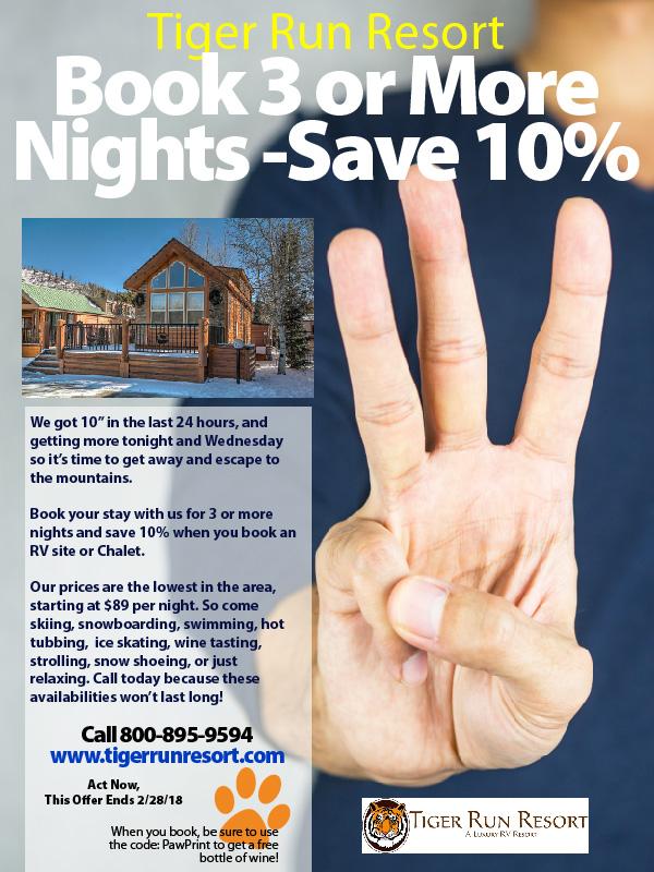 Book 3 Nights, Save 10%